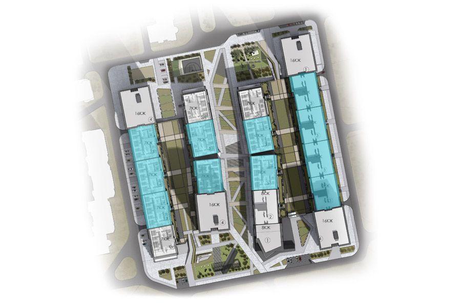 Квартира 1А, секція 3, поверх 2-5