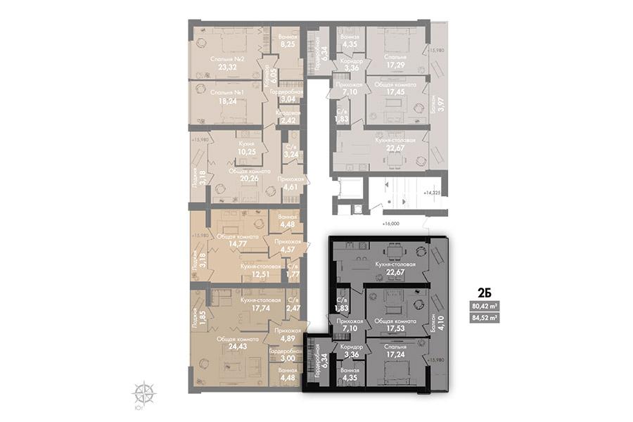 Квартира 2Б, секція 2, поверх 7